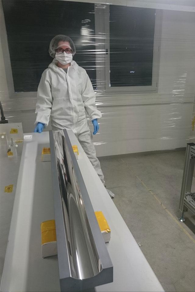 1m mirror for a British synchrotron (DIAMOND) near Oxford